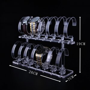 14 Positions Acrylic Watch Display Stand 26cm 19cm 7cm
