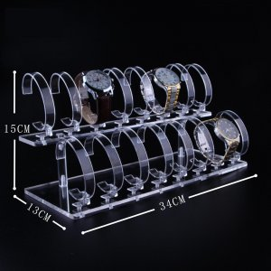 16 Positions Acrylic Watch Display Stand 34cm15cm13cm