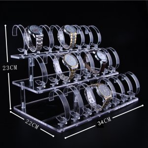 24 Positions Acrylic Watch Display Stand 34cm23cm22cm