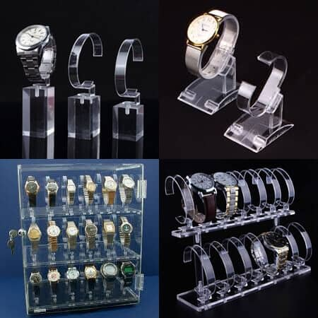Clear Acrylic Watch Displays