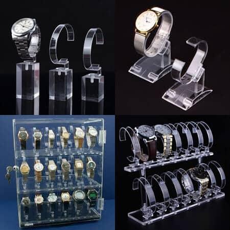 Clear Acrylic Watch Displays