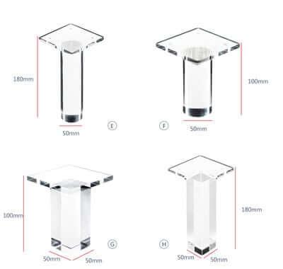 Clear Acrylic Chair legs