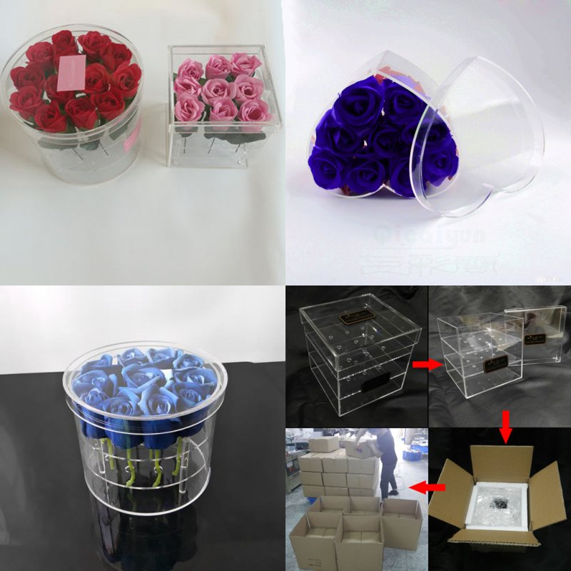 Clear Acrylic Rose Box