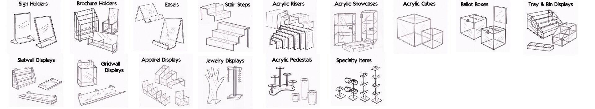 Models of Acrylic Displays