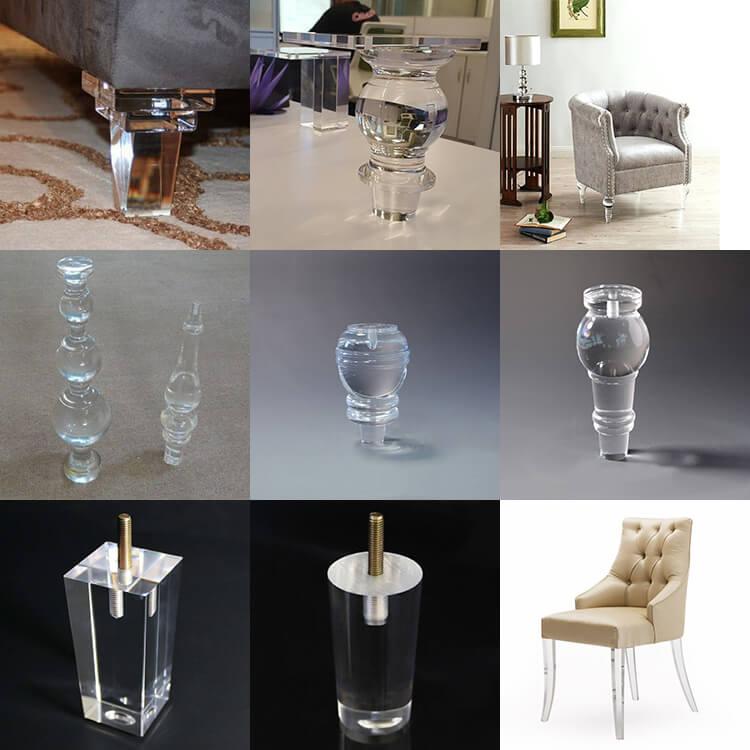 Acrylic Chair Legs