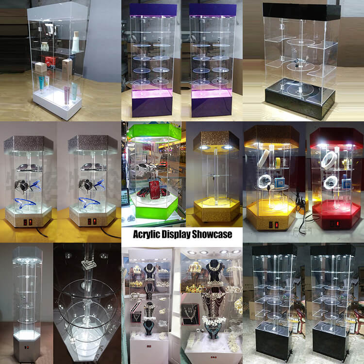 Acrylic Display Case With LED light