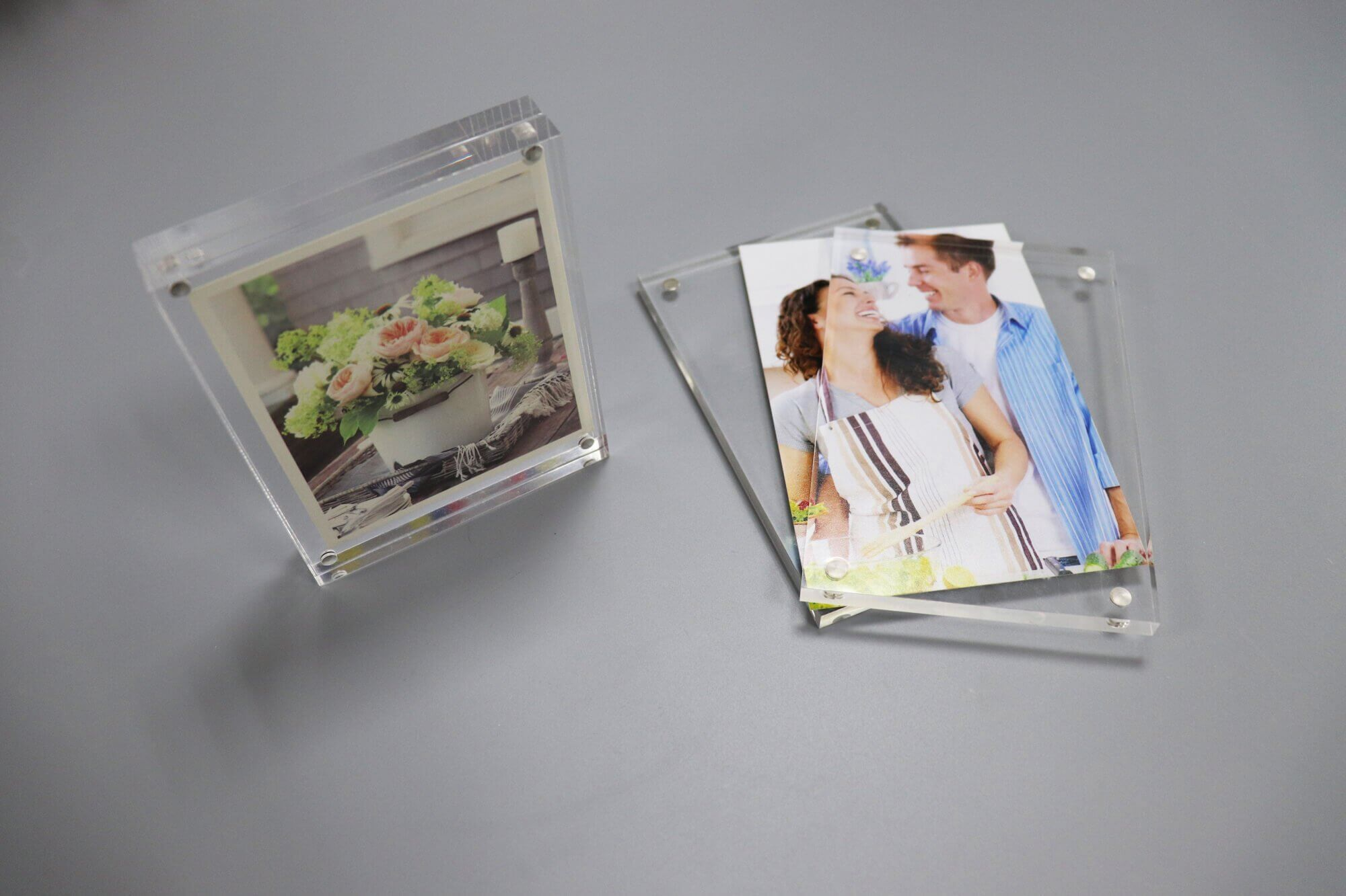 Clear Acrylic Magnetic Photo Frame Double Sided
