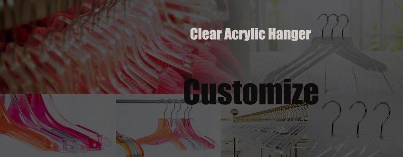 Custom clear plastic hangers