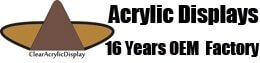 16 Years Manufacturer and Supplier of Custom Acrylic Display Products Logo