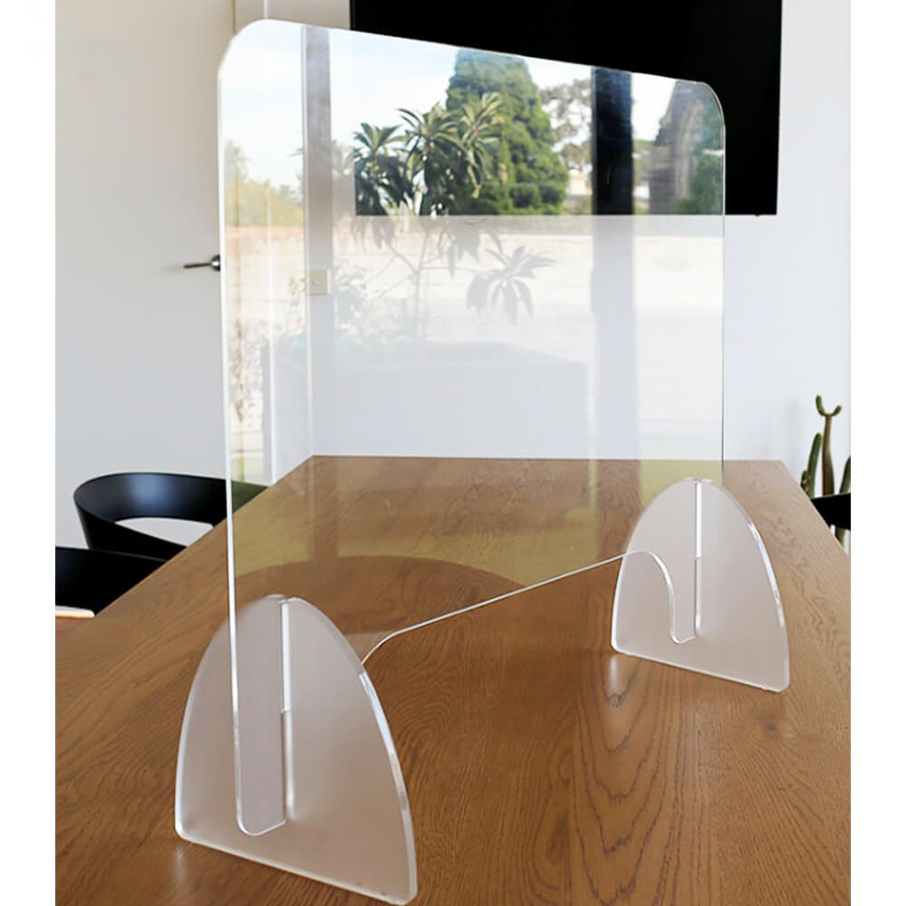 protective sneeze guard, clear acrylic plexiglass shield for counters