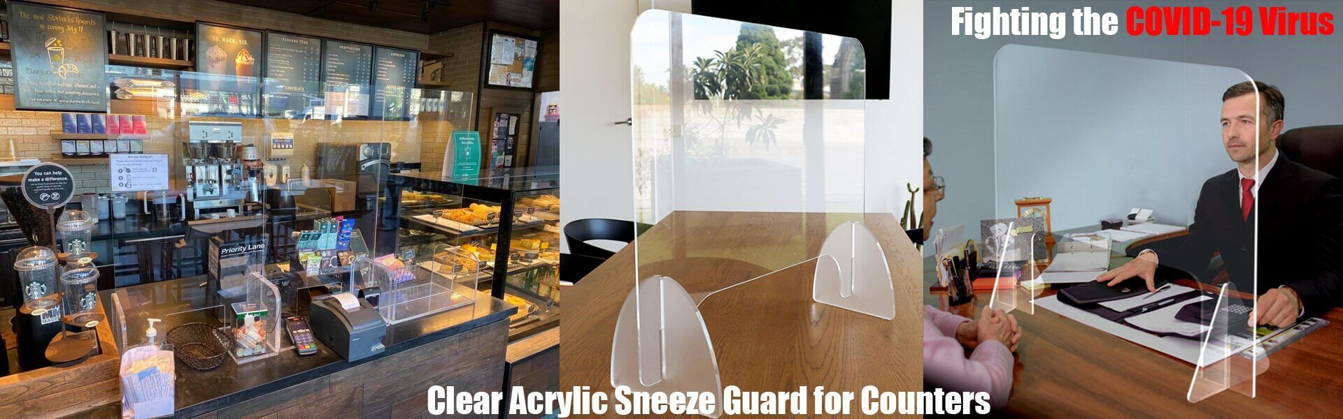 Acrylic Sneeze Guard/Shield, Cough Shields, Protective Guard, Safety Shields, Social distancing, Nail Salon Viral Protection