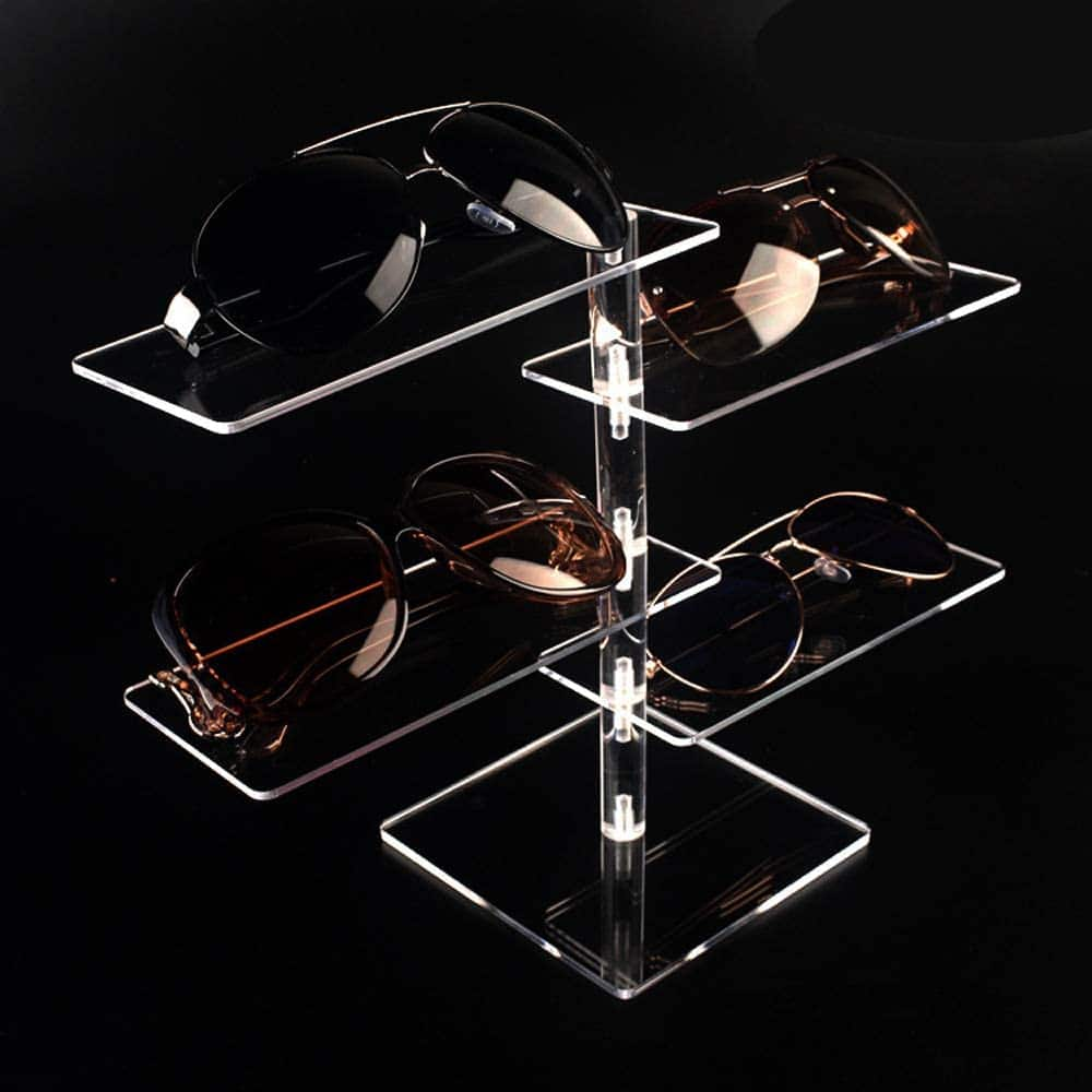 clear acrylic sunglasses display stand